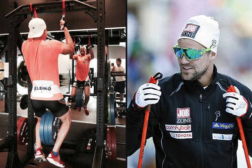 Ludvig Søgnen Jensen har litt mer styrke på treningsprogrammet enn vanlige allroundløpere. Foto: Privat (t.v.) og Flavio Becchis.
