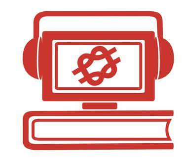 bibliotek logo- rød