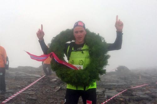 Eirik Solvang tok 2. plass i Årbostadtindløpet som avsluttet Tour de Andørja 2016, og han sikret seg sammenlagtseieren totalt. Foto: Tour de Andørja.
