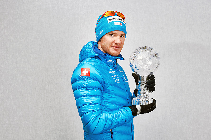 Dario Cologna vant distansecupen i verdenscupen 2014/2015. Foto: Felgenhauer/NordicFocus.