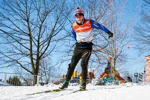 Martin Johnsrud Sundby trener i Ski Tour Canada-løypene. Foto: Felgenhauer/NordicFocus.