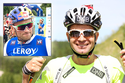 Petter Northug og Ole Einar Bjørndalen samarbeider via SMS. Fotomontasje: Geir Nilsen/Langrenn.com.