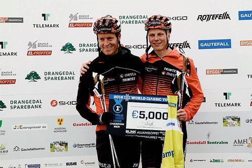 Petter Eliassen og Anders Mølmen Høst delte sammenlagtseieren i World Classic Tour 2016 etter avslutningsrennet Olaf Skoglunds Minneløp. Foto: World Classic Tour.