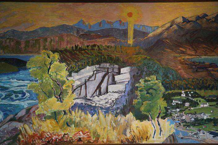 Maleri fra DNB til Fauske