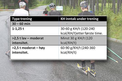 Grunnlagstabell. Grafikk: Barbro Sætha og Langrenn.com.