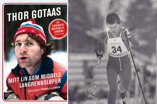 Pål Gunnar Mikkelsplass i Holmenkollen omkring 1980, en av verdens beste til å gå motbakke på ski gjennom alle tider. Foto fra boka Mitt liv som middels langrennsløper av Thor Gotaas.