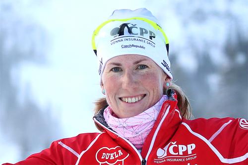 Katerina Smutna var beste løper på 10 km klassisk under Gällivarepremiären 2016. Foto: Yngve Johansson/Imega Promotion.