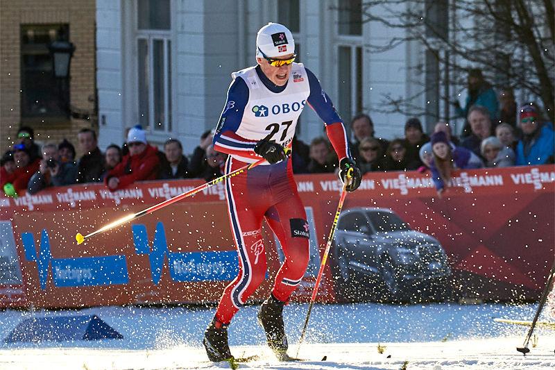 Johannes Høsflot Klæbo under verdenscupsprinten i Drammen 2016. Foto: Felgenhauer/NordicFocus.