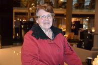 FUGs første leder Karin-Marie Flo portrett inne