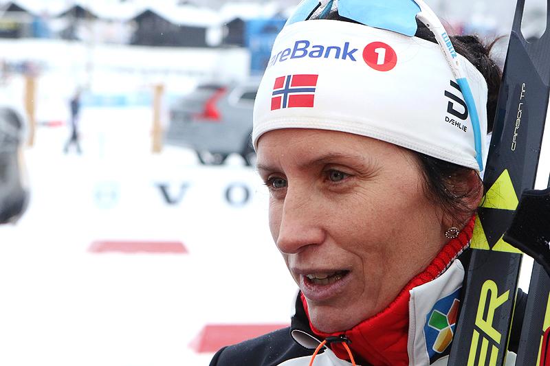 Marit Bjørgen etter sitt comeback, der hun toppet 10 kilometer i fri teknikk på Beitostølen 2016. Foto: Erik Borg.