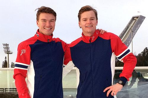 Jørgen Grav og Bendik Bang Pedersen er henholdsvis lagkaptein og delegasjonsleder for Norges tropp i Student-OL Almaty 2017. Foto: Privat.