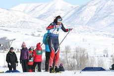 Kristine Stavås Skistad på vei mot 4. beste tid i damenes sprintprolog under Junior-VM i Park City og USA 2017. Foto: Erik Borg.