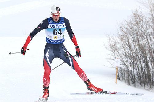 Harald Østberg Amundsen er blant de gode løperne i stallen, her er han på vei mot en plassering i toppsjiktet på 10 kilometer fri teknikk under Junior-VM i Park City 2017, hvor han også inngikk i stafettens gullag. Foto: Erik Borg.