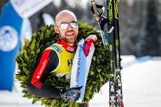 Tord Asle Gjerdalen etter å ha vunnet Visma Ski Classics-rennet Toblach - Cortina 2017. Foto: Bragotto/NordicFocus.