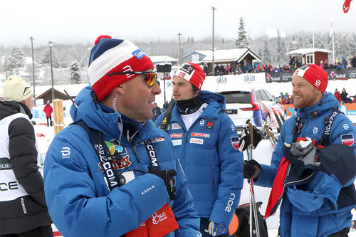 Deler av Skiforbundets trenerkorps. Foto: Erik Borg.