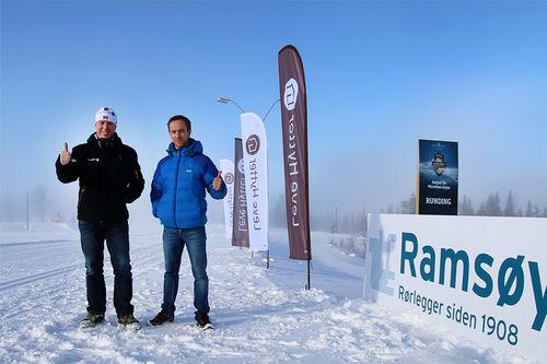 Arve Noreng i Leve Hytter og Kenneth Tofthagen fra Ramsøy har utviklet et bra og innholdrikt samarbeid med Hafjell Ski Marathon, til glede for alle, inkludert rennets stadig flere deltakere. Arrangørfoto.