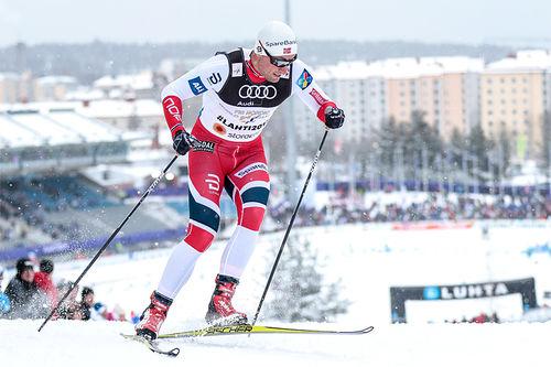 Petter Northug ute i sprinten under Lahti-VM 2017. Foto: Modica/NordicFocus.
