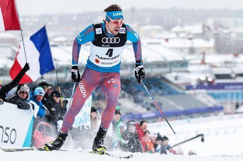 Sergey Ustiugov på vei mot VM-sølv i sprint under mesterskapet i Lahti 2017. Foto: Modica/NordicFocus.