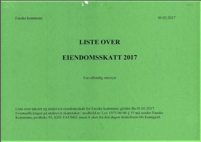 Eiendomsskattelister 2017 utklipp