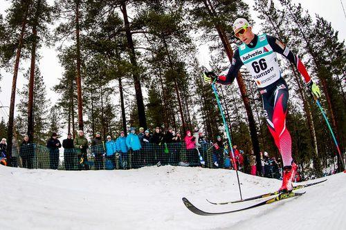 Niklas Dyrhaug på vei mot VM-bronse på 15 km under mesterskapet i Lahti 2017. Foto: Modica/NordicFocus.