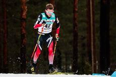 Didrik Tønseth på vei mot 5. plass på 15 km under VM i Lahti 2017. Foto: Modica/NordicFocus.