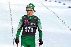 Iver Tildheim Andersen fra osloklubben Rustad IL gikk inn til gull for yngste herreklasse på 10 kilometer fri teknikk under Junio-NM i Harstad. Foto: Erik Borg.