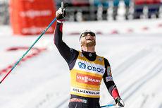 Martin Johnsrud Sundby inn til seier på femmila i Holmenkollen 2017. Foto: NordicFocus.