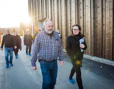 Ordfører Marianne Grimstad Hansen besøker det nye renseanlegget på Tangen