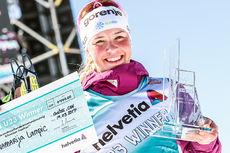 Anamarija Lampic, beste U23-løper for damer i verdenscupen 2016/2017. Foto: Modica/NordicFocus.