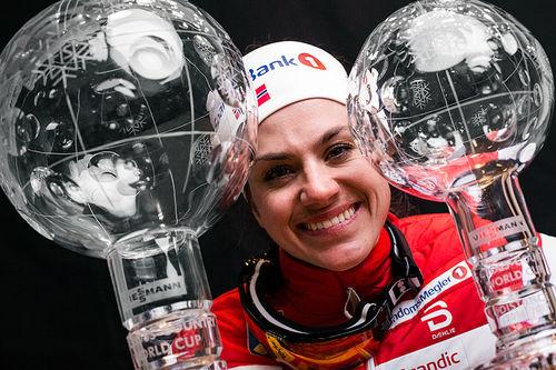 Heidi Weng toppet både distansecupen og verdenscupen sammenlagt forrige sesong, men kjenner ikke noe ekstra press av den grunn. Foto: Modica/NordicFocus.