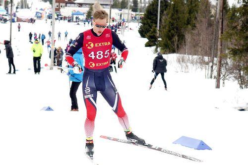 Mathias Rundgreen gikk inn til 4. plass på 10 km, svært tett på medalje i tid, under NM på Gålå 2017. Foto: Erik Borg.