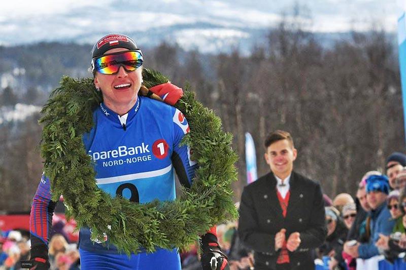 Justyna Kowalczyk sikret seieren i Reidstadløpet 2017, som også inngår i Visma Ski Classics, med solid margin. Foto: Magnus Östh.