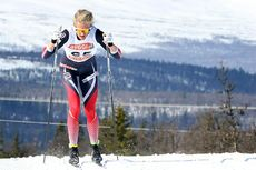 Kathrine Harsem på vei mot NM-medalje på 3-mila under mesterskapet på Gålå 2017. Foto: Erik Borg.