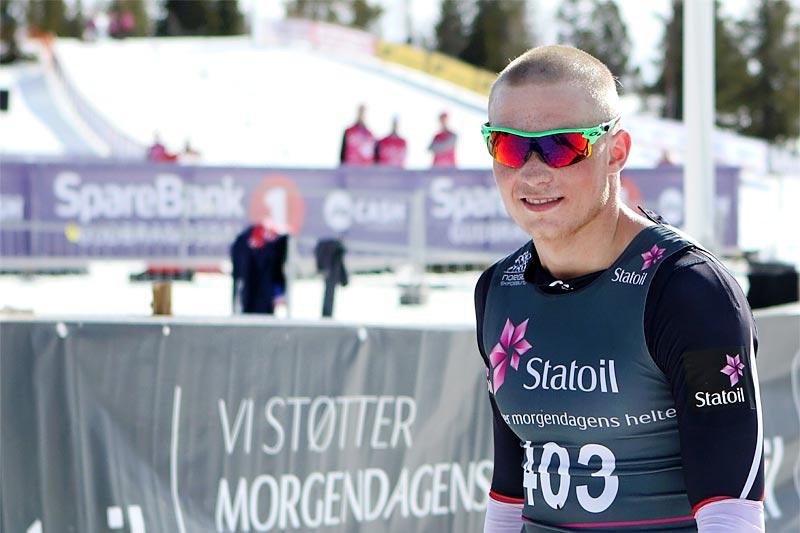 Vebjørn Hegdal var helt ustoppelig i norgescupfinalen på Gålå 2017. Foto: Erik Borg.