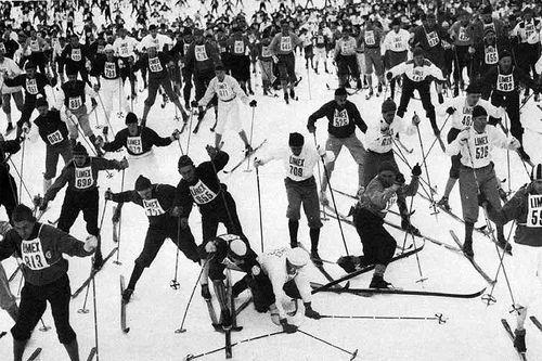 Vasaloppet i 1960-årene. Fra boka Sørlandsekspressen av Thor Gotaas.