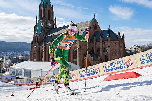 Katerina Paul under verdenscupsprinten i Drammen 2017. Foto: Rauschendorfer/NordicFocus.