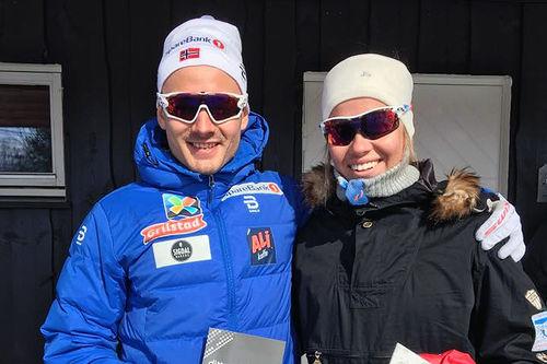 Finn Hågen Krogh og Henriette Mikkelsen var klare vinnere av Bæskadesrennet 2017. Arrangørfoto.