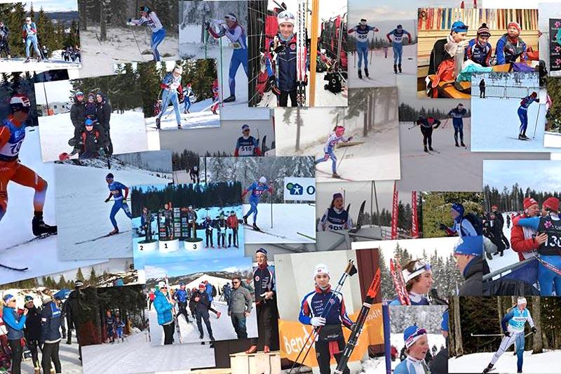 Bildecollage som viser noe av det store mangfoldet i Hamar Skiklubb. Foto: Privat.