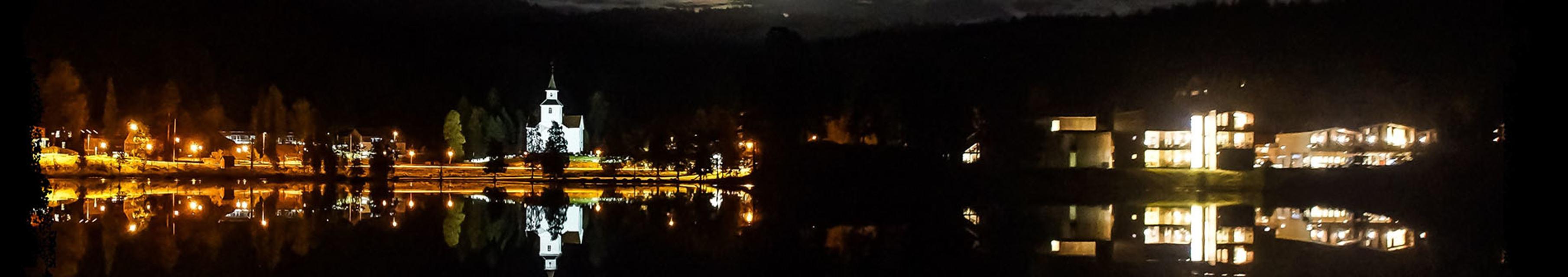Iveland kommune by night