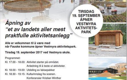 Åpning Vestmyra aktivietetspark kl.17-18