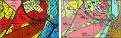 Utsnitt frå gjeldande (2003) og forslag til revidert kommunedelplan (2017)