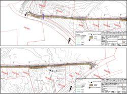 Utklipp frå planlagde løysningar for trafikksikrande tiltak i Brubakken (utkast pr. 01.12.2015)