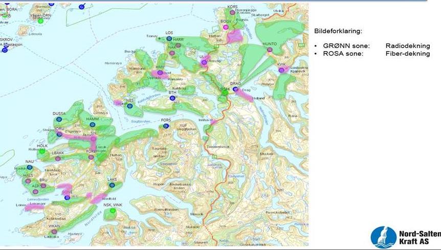 Utbygde områder i Steigen, Tysfjord og Hamarøy