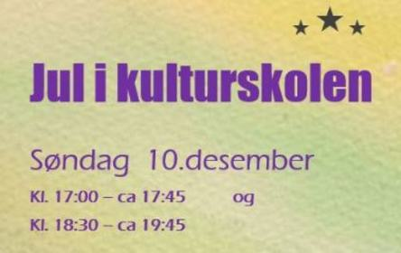 Jul i kulturskolen, ingress