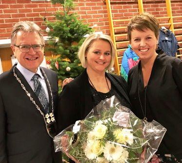 Hærland skole 50 år, Erik Unaas, Ida Røyse Bye og Linda Buer