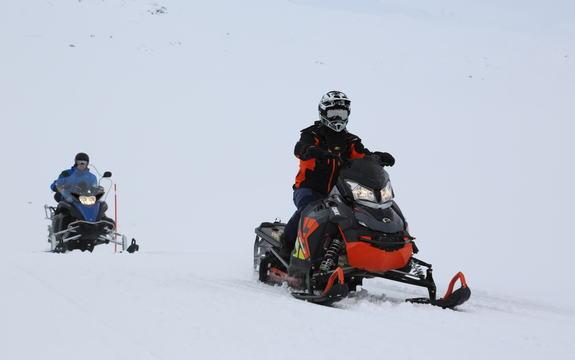 Snøskuter Sulitjelma Foto Gull H. Pedersen
