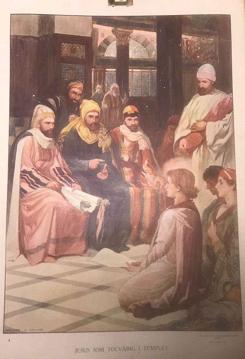 Bibelsk motiv - Jesus som 12 åring i templet