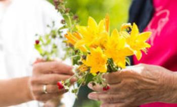 hender og blomst