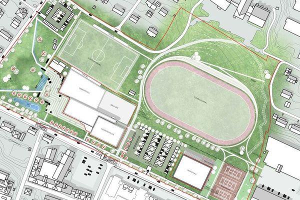 Illustrasjonsplan Mysen idrettspark
