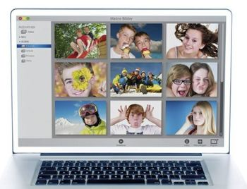 Bilder på nett, illustrasjon